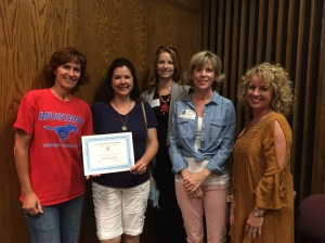 Grapevine High School submitted the most volunteer hours for summer 2015