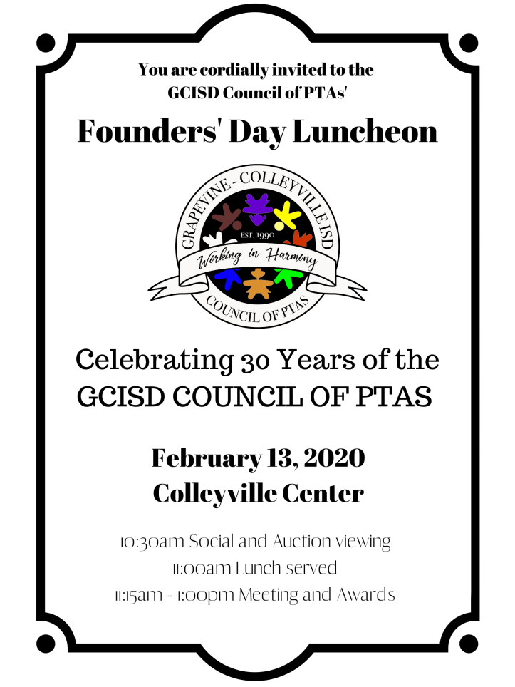 Copy of Council Founders' Day Invite 2020