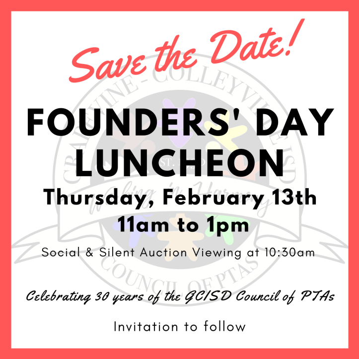founders' day save the date